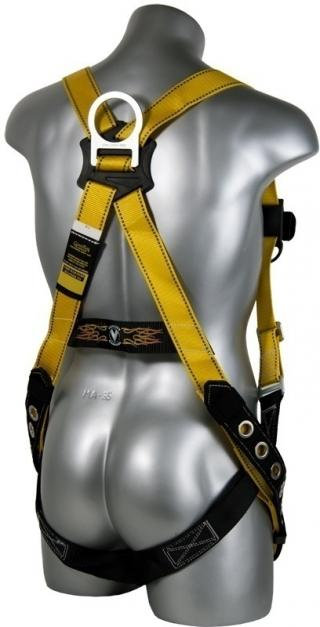 Guardian Fall Protection Velocity Harness with Tongue and Buckle Leg Straps