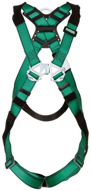 MSA V-FORM Full-Body Harness, Back D-Ring, Tongue Buckle Leg Straps