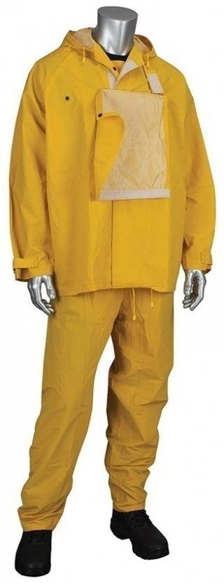 PIP HydroFR PVC Jacket with Hood and Bib Overalls