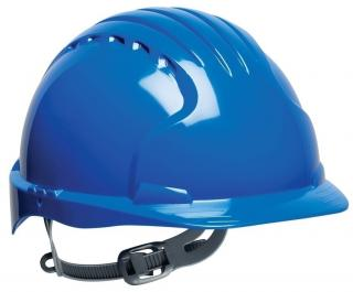 JSP Evolution 6121 Standard Brim HDPE Shell Hard Hat with 6 Point Suspension