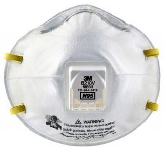 3M Particulate Respirator 8210V, N95 (Box of 10