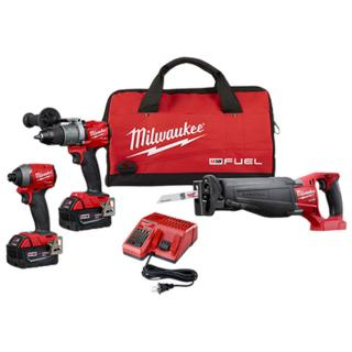 Milwaukee M18 FUEL 3 Tool Combo Kit - Soft Case