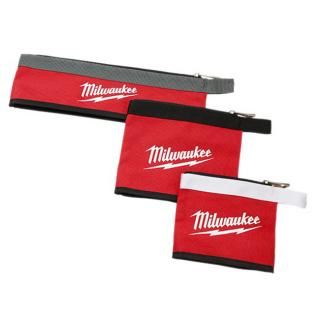 Milwaukee 3-Piece Multi-Size Zipper Pouches