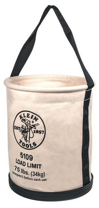 Klein Tools 5109 Wide-Opening Straight Wall Canvas Bucket