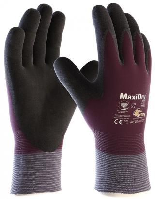 MaxiDry Zero Nylon / Lycra Glove with Full Hand Double-Dipped Nitrile Coated Micro Grip (Single Pair)