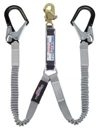 WestFall Pro 62022 BlackMax Shock Absorbing Lanyard with Aluminum Rebar Hooks