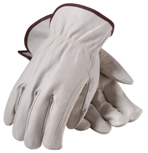 PIP Top Grain Cowhide Drivers Superior Grade Gloves, 12 Pairs