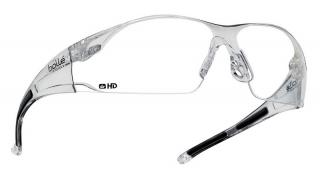 Bolle Rush Safety Glasses with Clear Lens and Clear Temple