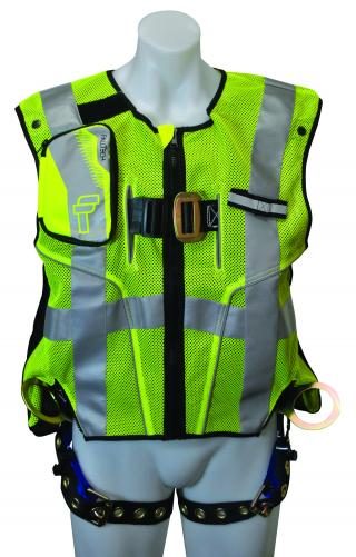 7018SML FallTech High-Vis Vest Harness Lime