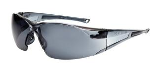Bolle Rush Safety Glasses with Smoke Lens and Smoke Temple