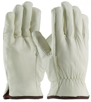 PIP Regular Grade Top Grain Cowhide Leather Glove with Red Foam Lining and Straight Thumb (Dozen)