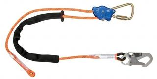 FallTech 8165B TowerClimber Adjustable Rope Positioning Lanyard with Steel Carabiner and Snap Hook