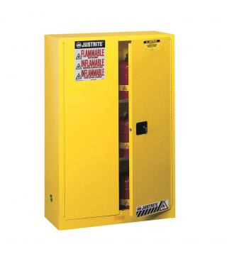 Justrite Sure-Grip EX Flammable Safety Cabinet with Manual Doors (45 gallons)