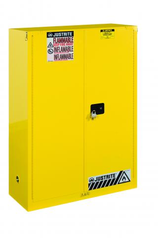 Justrite Sure-Grip EX Flammable Safety Cabinet with Self Closing Doors (45 Gallons)