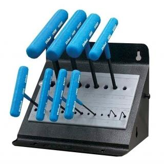 Wright Tool 9E64611, 10 Piece Metric Vinyl Grip T-Handle Set in Metal Stand