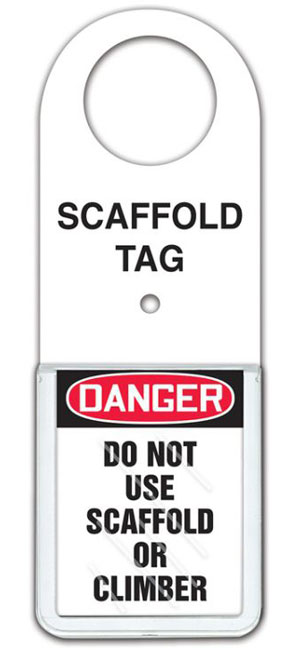 Do Not Use Scaffold or Climb Tag