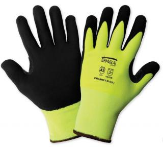 Samurai Glove High-Visibility Cut Resistant Coated Gloves (12 Pair)
