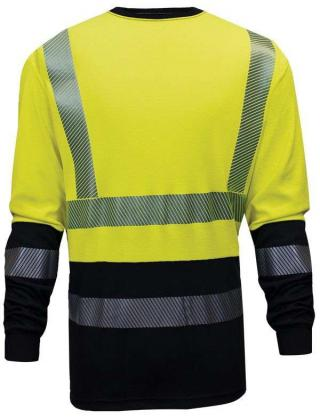 National Safety Apparel Hybrid FR His-Vis Long Sleeve T-Shirt