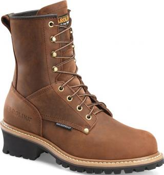 Carolina Elm Logger 8 Inch Waterproof Men's Boot