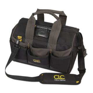 CLC Tech Gear LED Lighted 14 Inch Bigmouth Tool Bag
