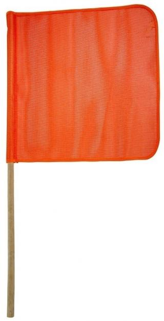 Dicke Safety 18 Inch Mesh Orange Warning Flag