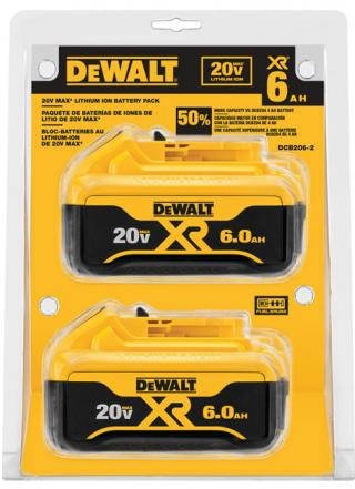 DeWALT 20V MAX 6.0 Ah Lithium-Ion Battery - 2 Pack