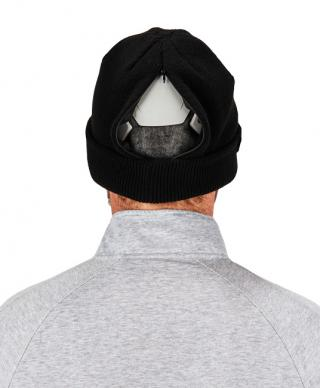 N-Ferno 6811ZI Zippered Rib Knit Beanie Hat with bump Cap
