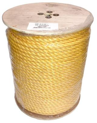 5/8 Inch 3 Strand Yellow Polypropylene Rope - 600 Feet