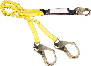 French 447AS-135A Creek Dual Leg Lanyard with Absorption Pack