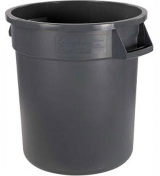 44 Gallon Carlisle Plastic Trash Can-Gray