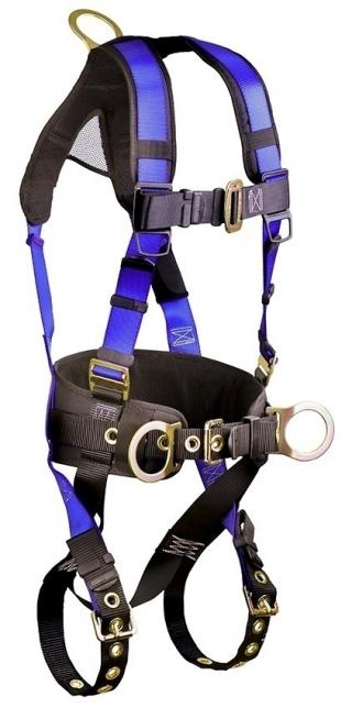 FallTech Contractor+ Belted 3 D-Ring Climbing Harness