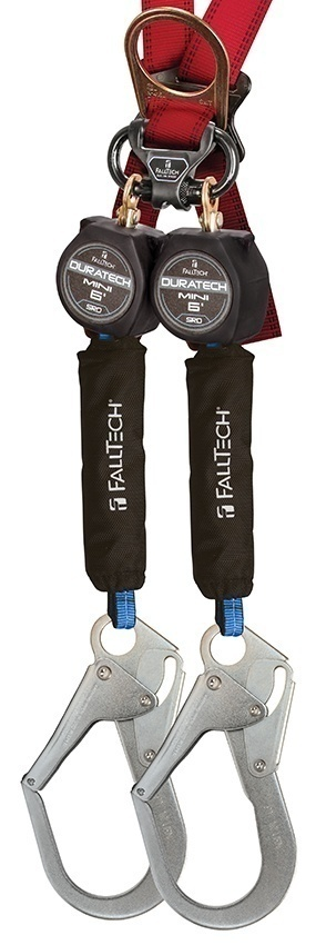 FallTech DuraTech Mini Twin Leg SRD with Steel Rebar Hooks