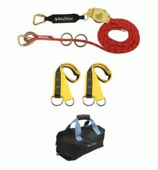 FallTech 2-Person Horizontal Lifeline Kit (60 Foot Kernmantle Rope)