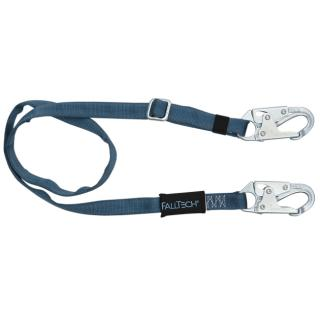 FallTech 7ft to 12ft Adjustable Length Restraint Lanyard with Steel Snap Hooks