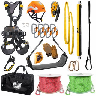 GME Supply Basic Controlled Descent Kit with Rope and Rescue Equipment