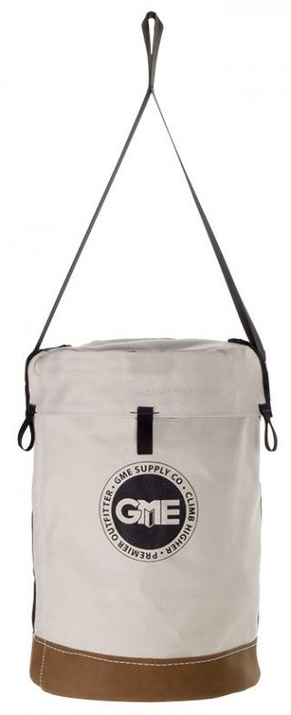 GME Supply Leather Bottom Canvas Bucket with Connection Points