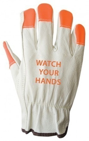 Ironwear 'Watch Your Hands' Buffalo Grain Leather Driver Gloves