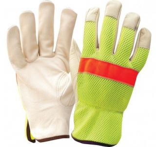 Ironwear Lime Mesh & Cow Grain Leather Driver Gloves