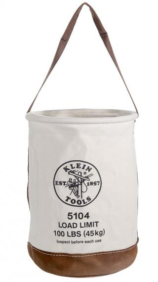 Klein Tools 5104 Leather Bottom Canvas Bucket