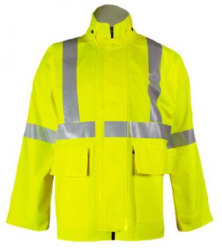 National Safety Apparel FR Contractor Rainwear Jacket - Type R Class 3