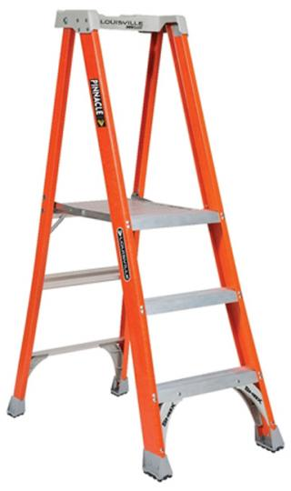 Louisville Ladder Fiberglass Pinnacle Pro Platform Step Ladder, Type IA