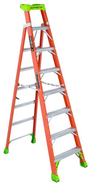 Louisville Ladder Fiberglass Cross Step Ladder, Type IA