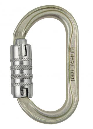 Petzl Oxan Oval Steel Carabiner - ANSI Rated