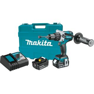 Makita 18V LXT Lithium-Ion Brushless Cordless 1/2 Inch Hammer Driver-Drill Kit (5.0 Ah)