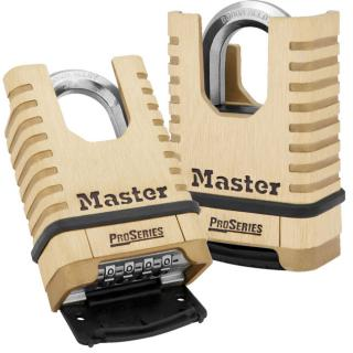 Master Lock 2-1/4 Inch (57mm) ProSeries Shrouded Brass Resettable Combination Padlock