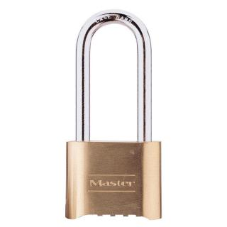 Master Lock 2 Inch (51mm) Brass Resettable Combination Padlock with 2-1/4 Inch (57mm) Shackle