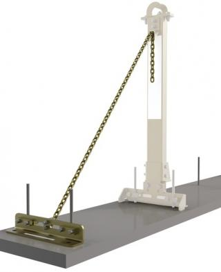 DBI Sala SecuraSpan Rebar/Shear Stud Horizontal Lifeline Stanchion with Base