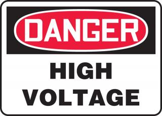Accuform 'Danger High Voltage' Sign