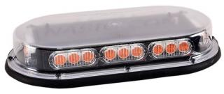 North American Signal Mini LED Light Bar with Upgraded Optics - Magnetic Mount - Amber