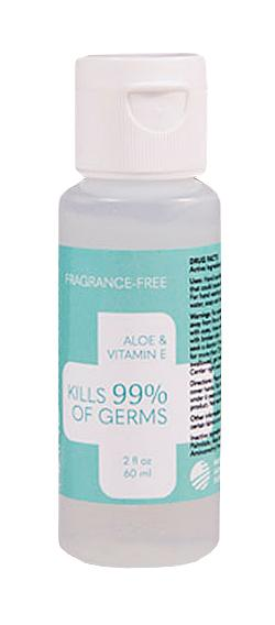 Fragrance-Free Aloe Hand Sanitizer (2 Ounce Refillable Bottle)
